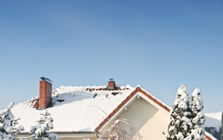 chimney in snow